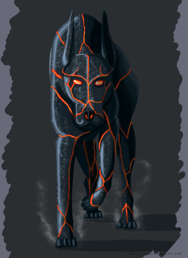 Original design for lava dog