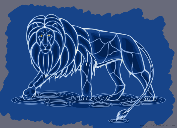 Original design for water lion